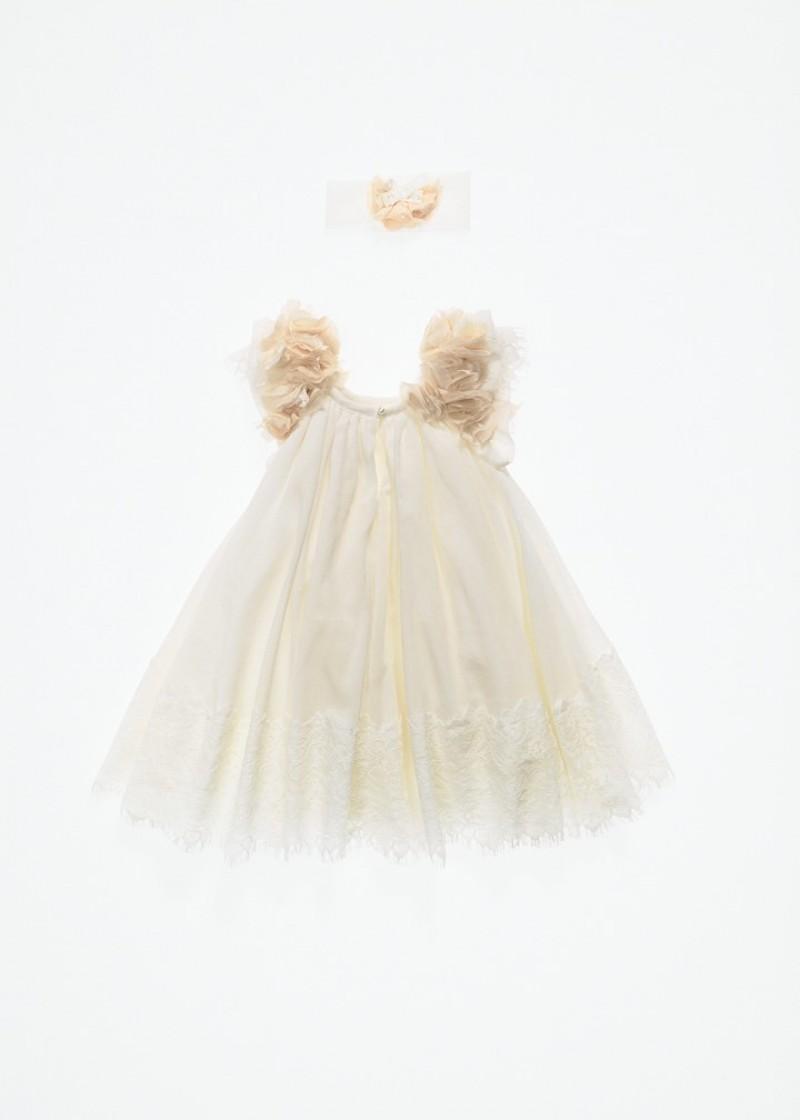 Βαπτιστικό χειροποίητο φόρεμα ΝΕΦΕΛΗ ΚΟΡΙΤΣΙ