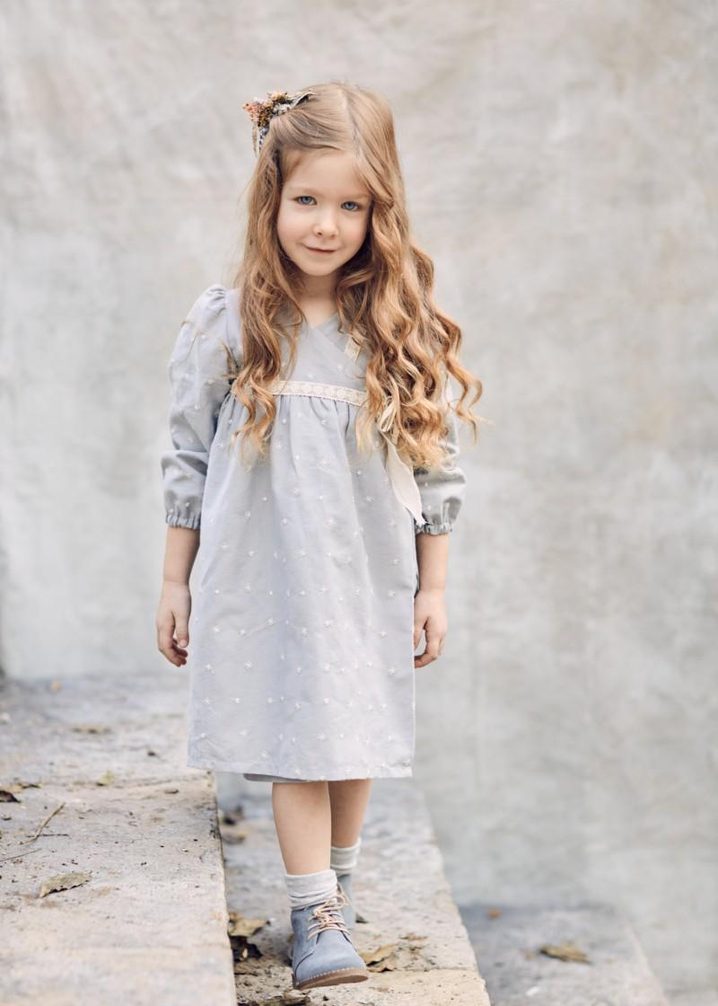 Παιδικά ρούχα - ΠΑΙΔΙΚΟ ΒΑΜΒΑΚΕΡΟ ΦΟΡΕΜΑ TZOANNA ΚΟΡΙΤΣΙ